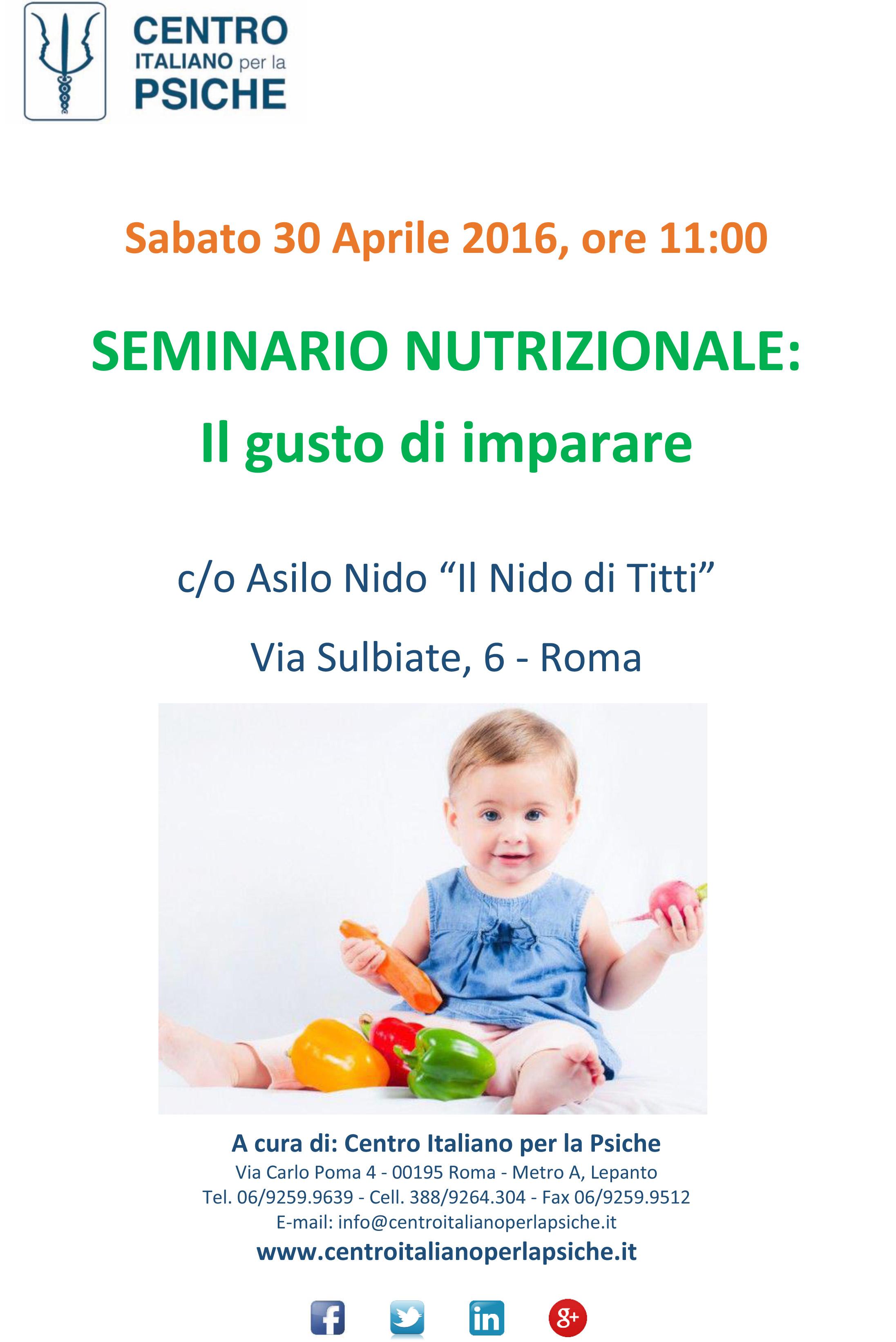 seminario nutrizione